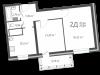 """Схема квартиры в проекте """"126 квартал""""- #1196754034"""