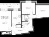 """Схема квартиры в проекте """"126 квартал""""- #273967165"""