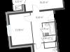 """Схема квартиры в проекте """"126 квартал""""- #2078779884"""