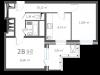"""Схема квартиры в проекте """"126 квартал""""- #238866582"""