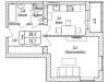 """Схема квартиры в проекте """"Акваполис""""- #101749712"""