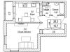 """Схема квартиры в проекте """"Акваполис""""- #1462681220"""