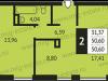 """Схема квартиры в проекте """"Альбертвиль""""- #344637109"""