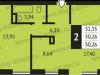 """Схема квартиры в проекте """"Альбертвиль""""- #9096238"""