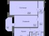 """Схема квартиры в проекте """"Антей""""- #252025496"""