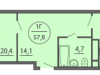"""Схема квартиры в проекте """"Антей""""- #566793987"""