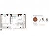 """Схема квартиры в проекте """"Apartville (Апартвилль)""""- #250467329"""