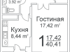 "Схема квартиры в проекте ""Ареал""- #1355633272"