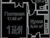 "Схема квартиры в проекте ""Ареал""- #1187924449"