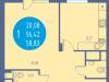 """Схема квартиры в проекте """"Авеню""""- #1953094915"""