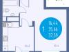 """Схема квартиры в проекте """"Авеню""""- #1298471497"""