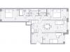 """Схема квартиры в проекте """"Balance""""- #1240621153"""