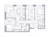 """Схема квартиры в проекте """"Balance""""- #1107021872"""