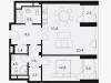"""Схема квартиры в проекте """"Balchug Viewpoint (Балчуг Вьюпойнт)""""- #712160185"""