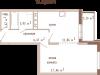 """Схема квартиры в проекте """"Банный""""- #132080865"""