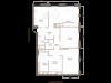"""Схема квартиры в проекте """"Barkli Residence (Баркли Резиденс)""""- #1118642872"""