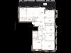 """Схема квартиры в проекте """"Barkli Residence (Баркли Резиденс)""""- #1378398452"""
