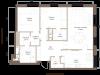 """Схема квартиры в проекте """"Barkli Residence (Баркли Резиденс)""""- #197571327"""