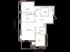 """Схема квартиры в проекте """"Barkli Residence (Баркли Резиденс)""""- #696923929"""
