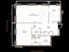 """Схема квартиры в проекте """"Barkli Residence (Баркли Резиденс)""""- #586343414"""