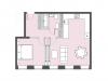 """Схема квартиры в проекте """"Bauman house""""- #1870997218"""