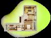 """Схема квартиры в проекте """"Березовая роща""""- #2091294920"""