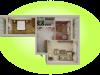 """Схема квартиры в проекте """"Березовая роща""""- #1592932089"""