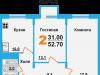 "Схема квартиры в проекте ""Борисоглебское-2""- #1791326423"