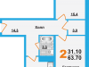 "Схема квартиры в проекте ""Борисоглебское-2""- #727081956"