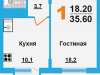 "Схема квартиры в проекте ""Борисоглебское-2""- #1294387608"