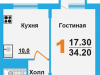 "Схема квартиры в проекте ""Борисоглебское-2""- #94920183"