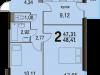 "Схема квартиры в проекте ""Булатниково""- #1092623150"