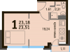 "Схема квартиры в проекте ""Булатниково""- #1951802100"