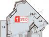 """Схема квартиры в проекте """"Бутовские Аллеи""""- #1238411742"""