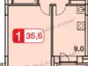 """Схема квартиры в проекте """"Бутовские Аллеи""""- #1040006088"""