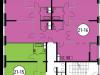 """Схема квартиры в проекте """"Да Винчи""""- #1558819357"""