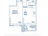 """Схема квартиры в проекте """"Династия""""- #2065253152"""