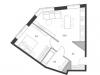 """Схема квартиры в проекте """"Дом Chkalov""""- #373019105"""