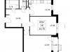 """Схема квартиры в проекте """"Дом на Барвихинской""""- #1826304796"""