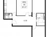 """Схема квартиры в проекте """"Дом на Барвихинской""""- #288917161"""