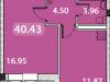 """Схема квартиры в проекте """"Дом на Рижской""""- #898410544"""