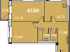 """Схема квартиры в проекте """"Дом на Рижской""""- #1285682726"""