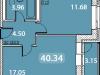 """Схема квартиры в проекте """"Дом на Рижской""""- #529849212"""