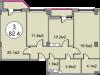 """Схема квартиры в проекте """"Дом на Садовой""""- #1871076004"""