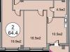 """Схема квартиры в проекте """"Дом на Садовой""""- #1323409299"""