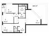 """Схема квартиры в проекте """"Дом на Щукинской""""- #1823193905"""