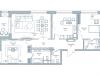 """Схема квартиры в проекте """"Дом на Тишинке""""- #122858754"""