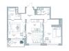 """Схема квартиры в проекте """"Дом на Тишинке""""- #900442962"""