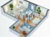 """Схема квартиры в проекте """"Дом в Калиновке""""- #1488600332"""
