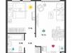 """Схема квартиры в проекте """"Донской квартал""""- #3752789"""